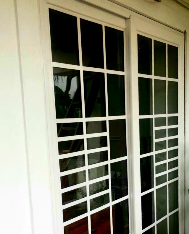 2CHANNEL SLIDING SAFETY GLASS GRILL DOOR IN PANJIM GOA