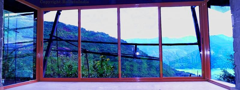 Lavasa site of sliding door made valley view and lake view from the door