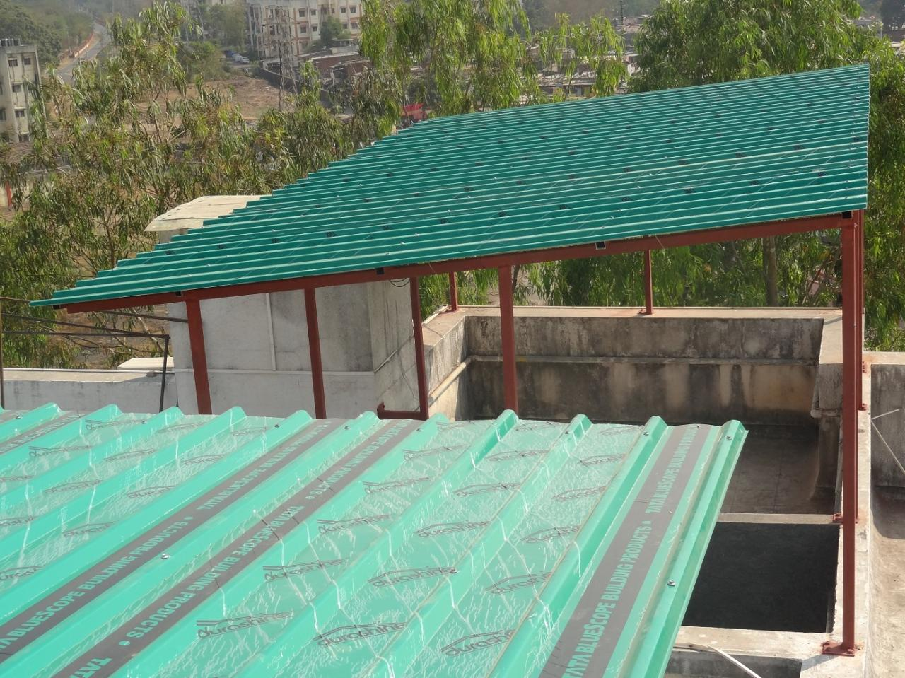 Rollwin india watch what our roofcustomer says about our for Terrace shed ideas
