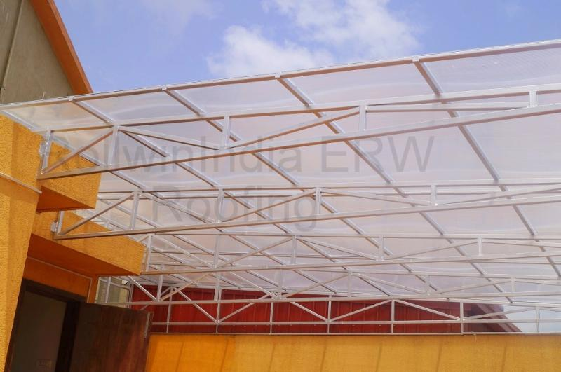 Designer roof sheets manufacturers tensile roofing for Terrace shed designs india